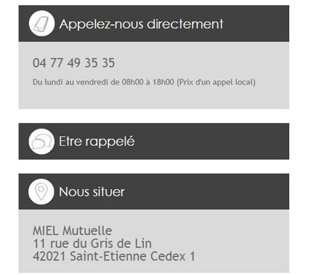 Contacter Miel mutuelle