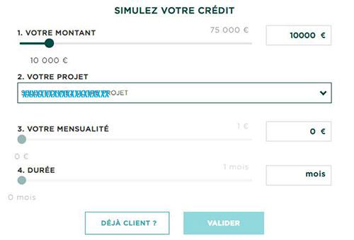 simulateur credit en ligne