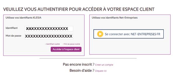 www.klesia.fr espace client