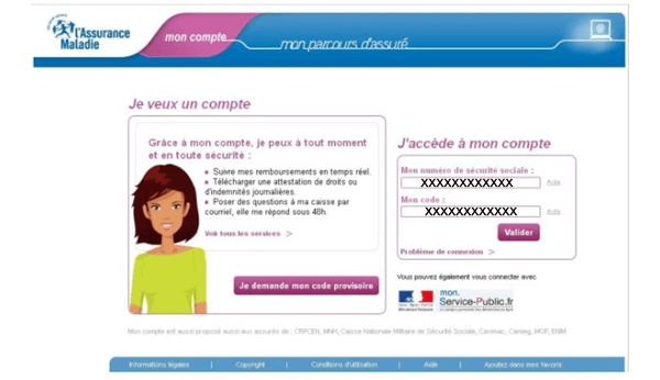 www.ameli.fr mon compte