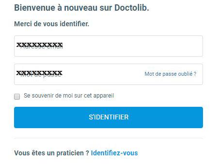 Doctolib créer un compte