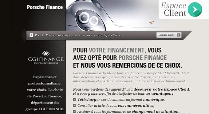 Porshe finance espace client