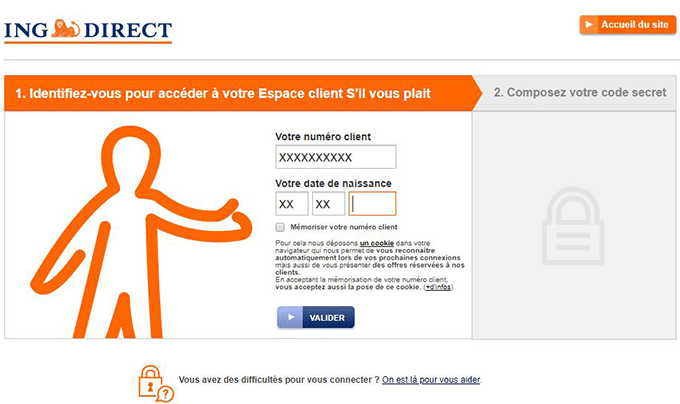 login ing direct
