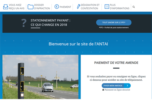 www.antai.fr payer une amende