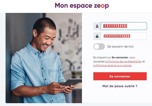 espace client Zeop