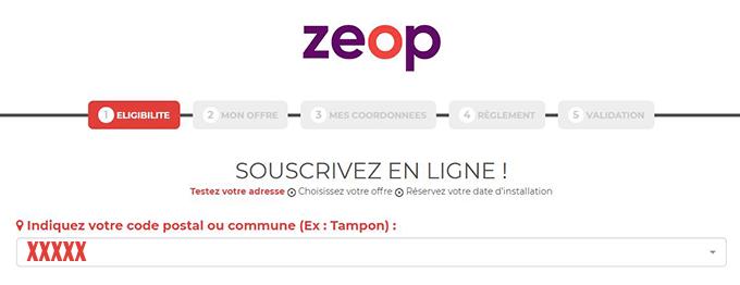 souscription abonnement internet Zeop