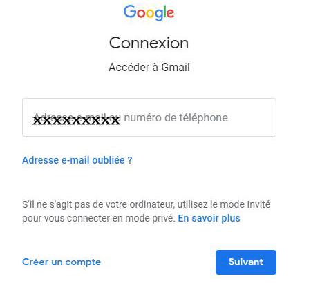 Gmail connexion a mon compte
