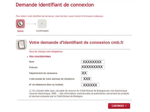 Demander identifiant crédit mutuel de Bretagne