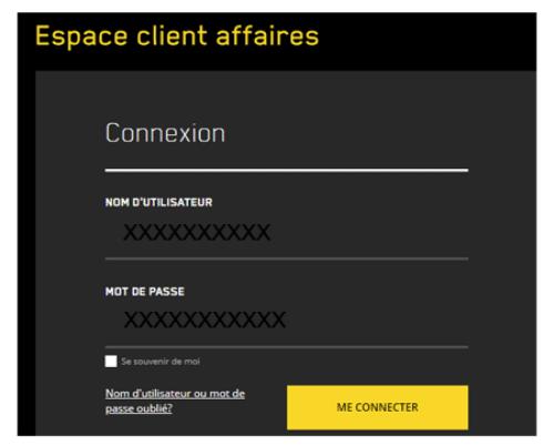 Espace affaires videotron connexion