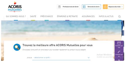 Accès à acorismutuelle.fr