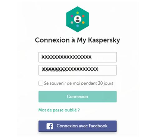 Kaspersky espace client mon compte