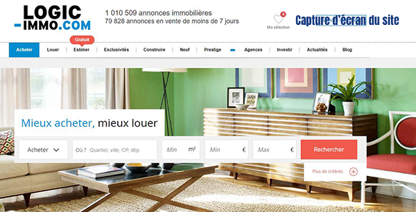 site annonce immobiliere logic immo