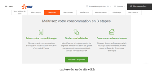 Consulter le site particulier.edf.fr