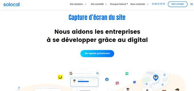 partenaire digital solocal france