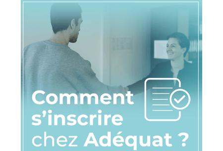 Adequat.fr s'inscrire en agence