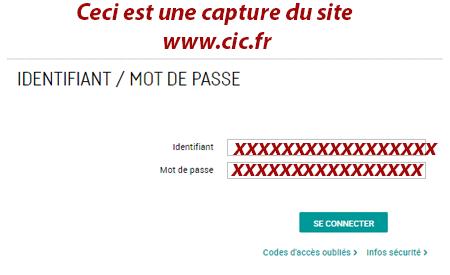 Mon compte CIC banque identification