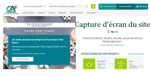 www.ca-sudmed.fr mon compte
