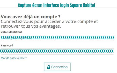 se connecter à mon espace client Square habitat