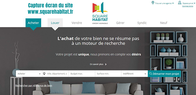 agence immobiliere Square Habitat credit Agricole