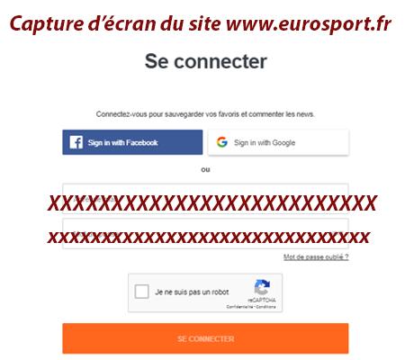 Eurosport player connexion
