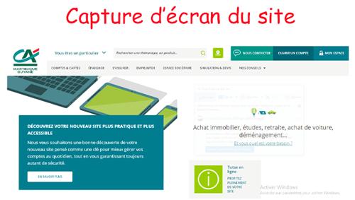 Consultation de compte sur www.ca-martinique.fr consultation compte