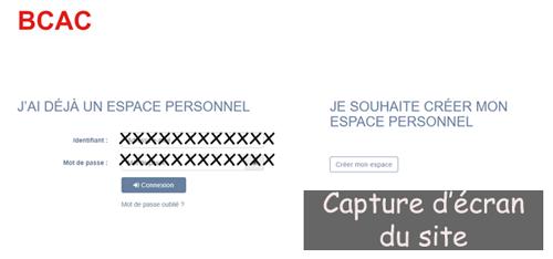 Se connecter à https://bcac-adherent.gestionsante.fr