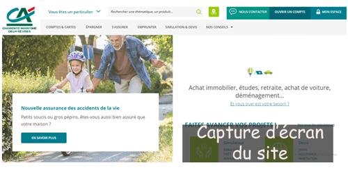 www.ca-cmds.fr releve de compte