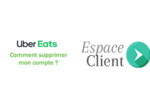Supprimer compte ubereats