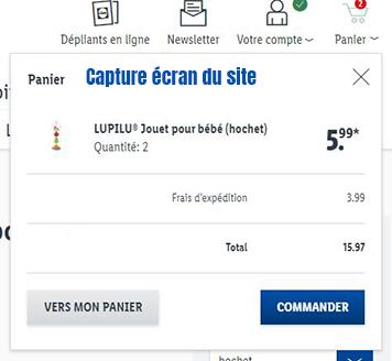 courses en ligne lidl belgique