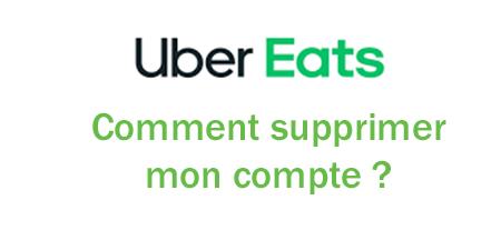 Supprimer un compte uber eats