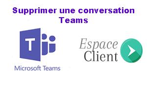 Supprimer une conversation teams