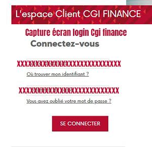 connexion cgi finance