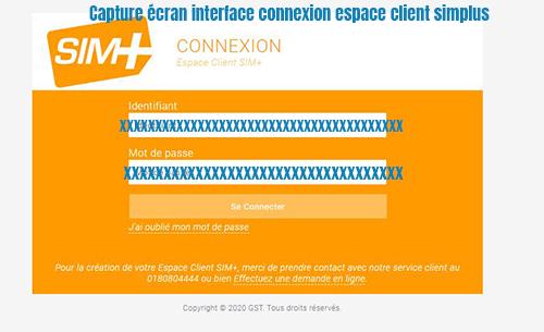 connexion espace client simplus