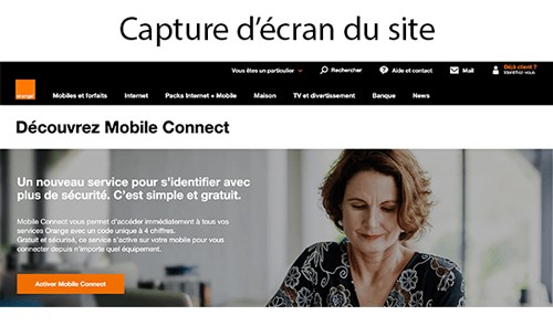 Accéder à mobile connect orange