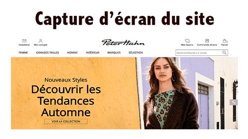 Se rendre sur le site peterhahn.fr
