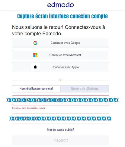 connexion compte edmodo