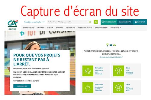 Accéder à www.ca-corse.fr