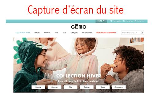 Gémo.fr créer un compte