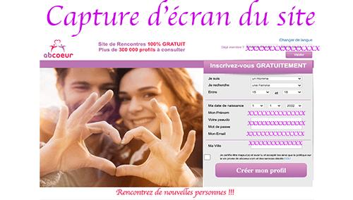 Créer un compte sur www.abcoeur.com