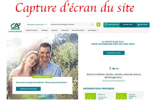 Se connecter sur www.ca-languedoc.fr