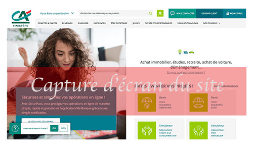 Accéder aux comptes Crédit Agricole Finistère