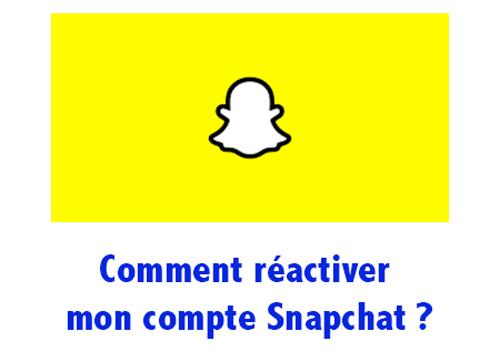 Comment réactiver un compte Snapchat