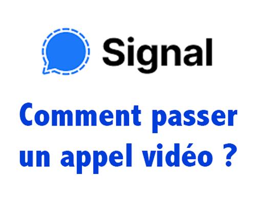 Faire un appel vidéo de groupe sur signal