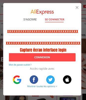 connexion compte aliexpress