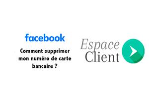 Effacer compte bancaire facebook