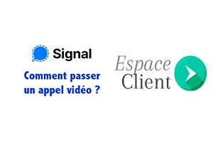 Lancer une visioconférence Signal