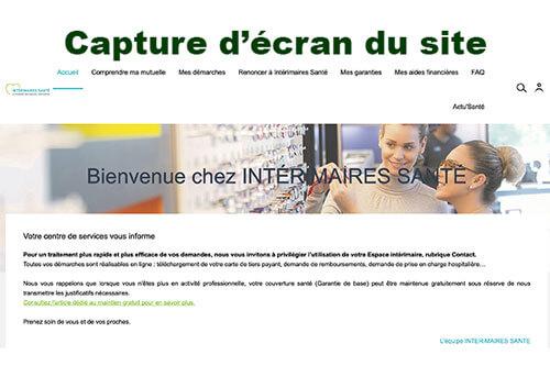 Se connecter sur www.interimairessante.fr