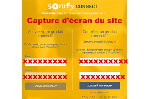 Somfy connect portail