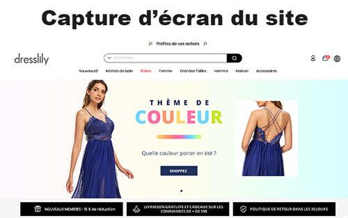 Se connecter à Dresslily com français