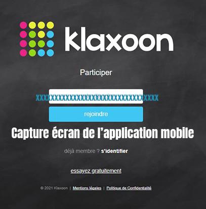 application mobile klaxoon